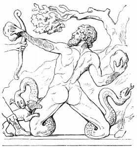 Gigant im Kampf gegen Artemis