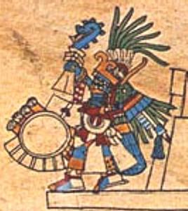 Huitzilopochtli- der Kriegs- und Sonnen-Gott der Azteken